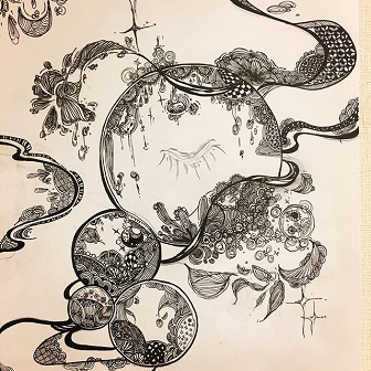 白石糸の絵